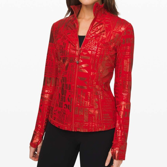 lululemon athletica Jackets & Blazers - Lululemon Define Jacket 20 yr Manifesto Red Foil